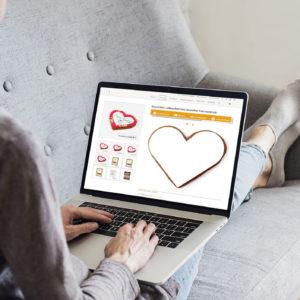 Herzen-Designer vollflächiger Druck